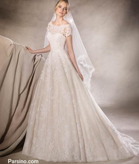 مدل لباس عروس گیپور و تور خارجی