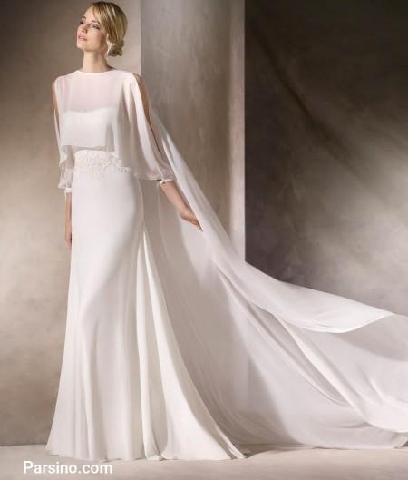 شیک ترین لباس عروس حریر و تور خارجی