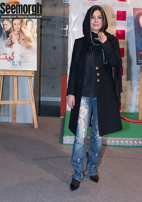 سارا بهرامی در اکران فیلم گیتا در پردیس ملت