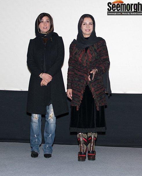 سارا بهرامی و مریلا زارعی در اکران فیلم گیتا در پردیس ملت