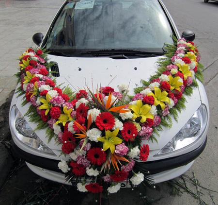 مدل ماشین عروس, گل کاری ماشین عروس